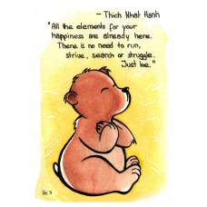 Carte postale Thich Nhat Hanh